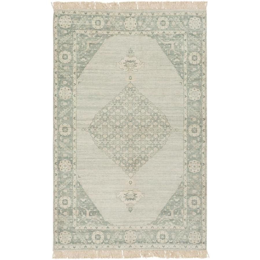 Surya Zainab 2 Ft X 3 Ft Traditional Area Rug In Sage Lowes Com In 2021 Sage Green Rug Green Rug Green Area Rugs