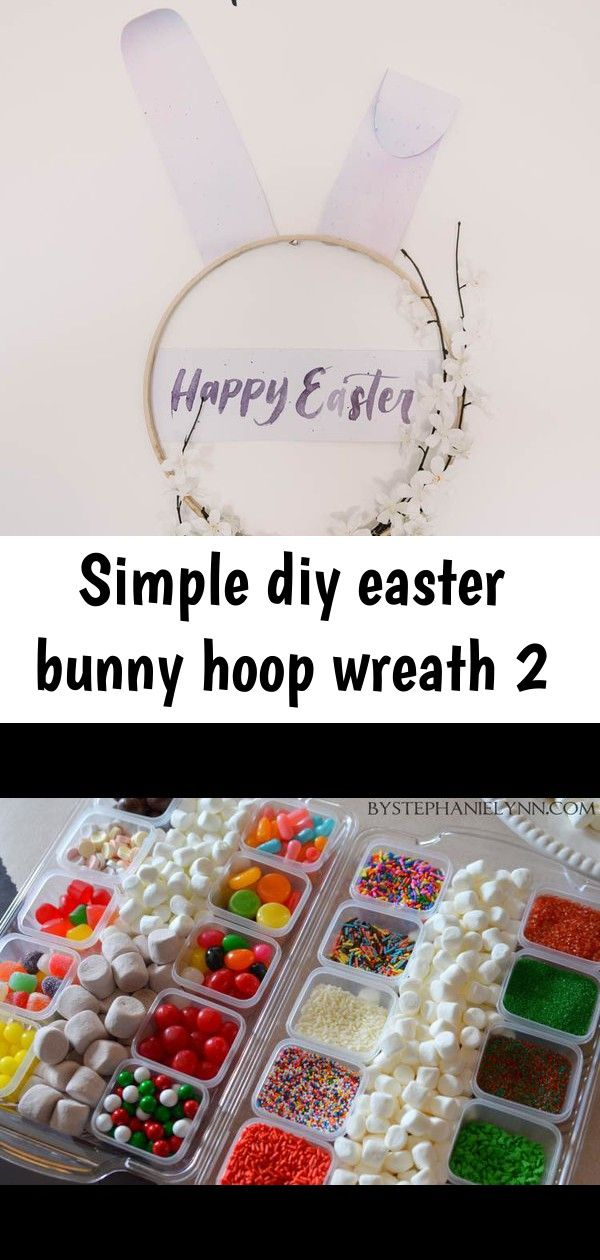 Simple diy easter bunny hoop wreath 2 Modern DIY Easter Wreath love this easter bunny hoop wreath Houston Wedding and Event Planner  Lindsy Steinberg Events How to make s...