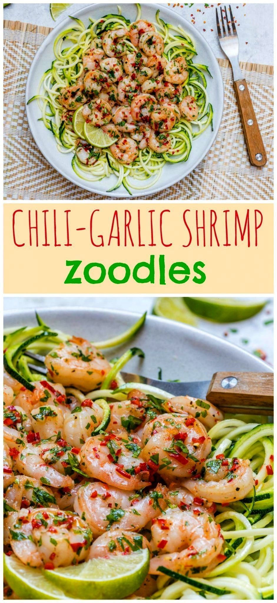 Garlic Shrimp Zoodles -  Clean Eating Chili Garlic Shrimp Zoodles Are Low Carb & Super Yummy! – C