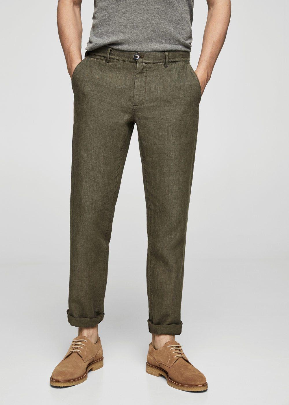 Linen chino trousers Men | Linen trousers men, Mens chino