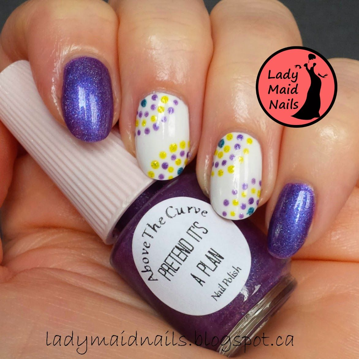 Lady maid nails above the curve nail polish and the jinxed nail