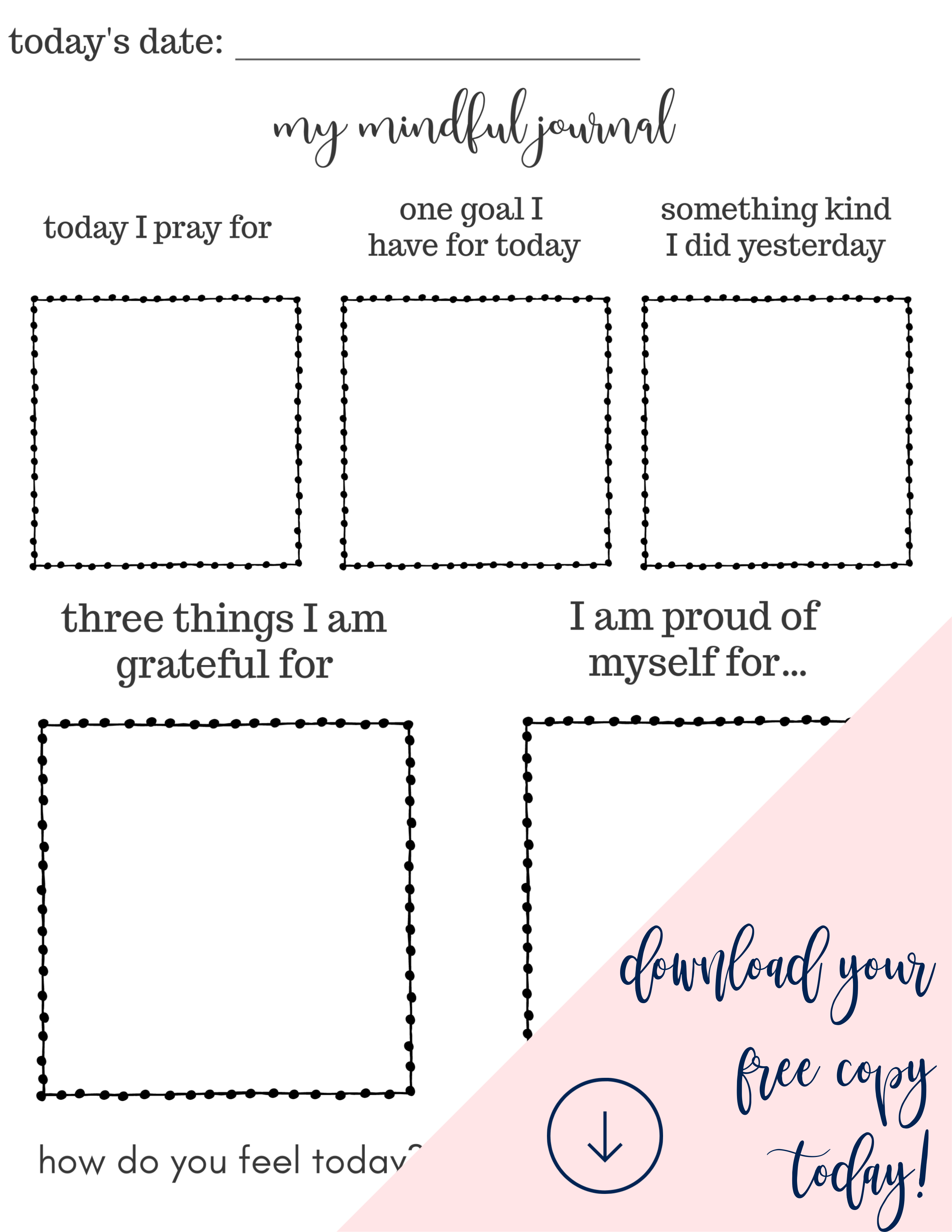 Daily Mindful Journal For Kids