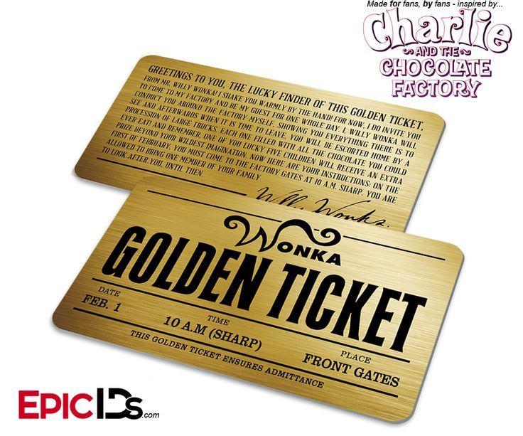 Willy Wonka's Golden Ticket by danjuwise1.deviantart.com on ...