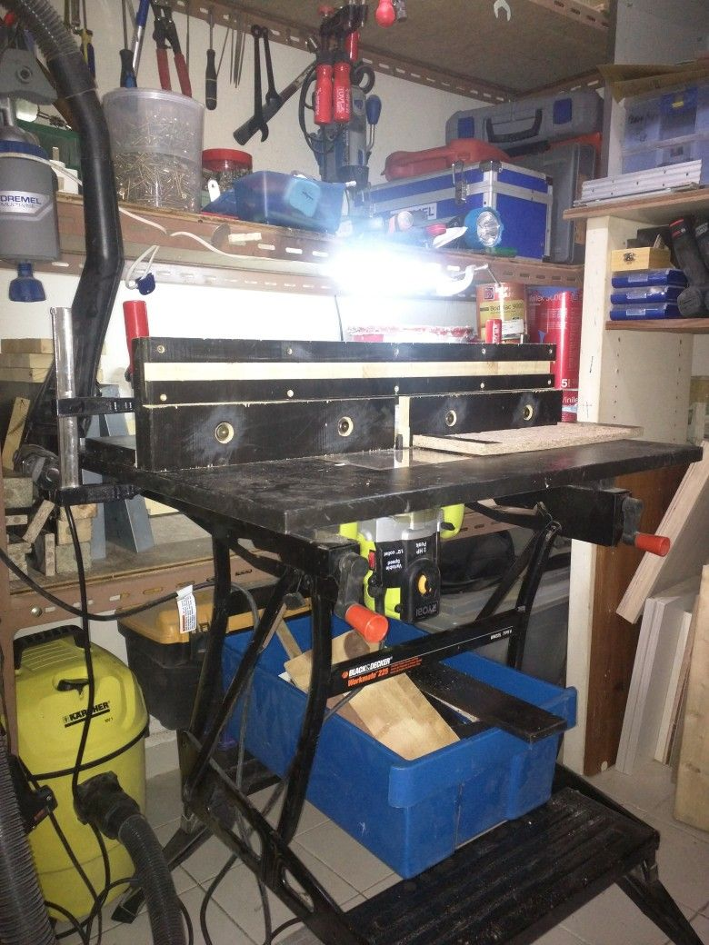 My router table using workmate 225 home pinterest router table my router table using workmate 225 greentooth Gallery