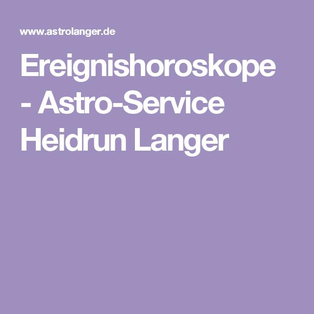 Ereignishoroskope - Astro-Service Heidrun Langer