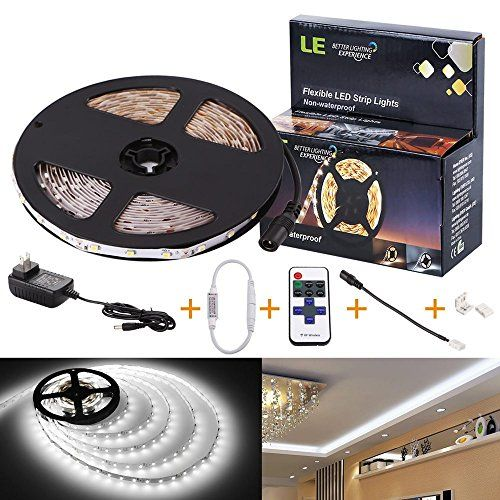 Le C 12v Flexible Led Strip Lights Kit Led Tape 6000k Daylight White 300 Units Smd 3528 Leds 73 Flexible Led Strip Lights Led Strip Lighting Strip Lighting