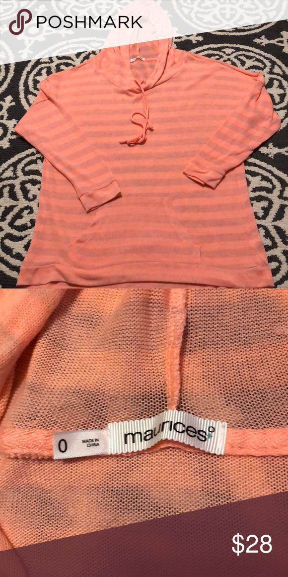 452a6c31b4 Maurices women s plus size 0 sweater hoodie Pink and gray sweater hoodie .  Maurices plus size