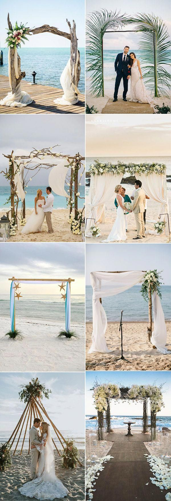 35 Gorgeous Beach Themed Wedding Ideas - Elegantweddinginvites.com Blog |  Rustic beach wedding, Beach wedding arch, Beach wedding arbors