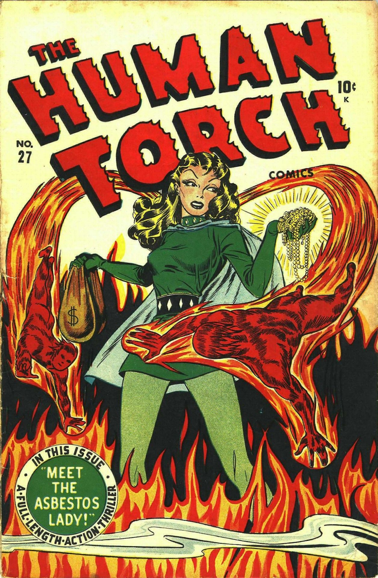 The Human Torch #27, Summer 1947 cover by Syd Shores | Super
