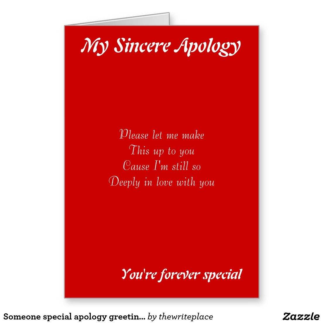 Someone special apology greeting cards ralph staples greetings inc someone special apology greeting cards kristyandbryce Gallery