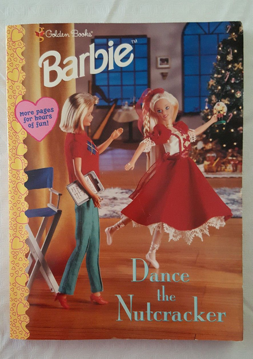 1998 Barbie Dance The Nutcracker Coloring Book By Golden Books