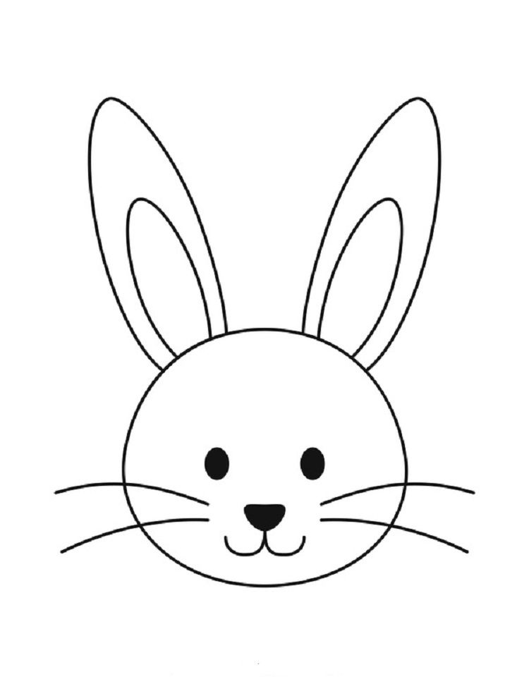 Bunny Face Coloring Pages Bunny Coloring Pages Bunny Drawing Easter Coloring Pages