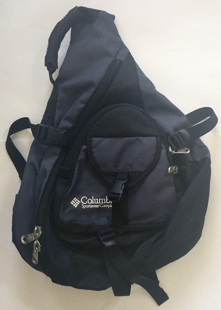 Columbia Gray Black Sling Backpack Crossbody Single Strap Cloud 9 School  Supply  a2dff1db8cf2e