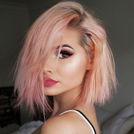 Kylie Jenner Peach Hair Colorsummer Hair Inspiration Summer Haircolor Summer Hair Colour Summer Hairstyles S Peach Hair Colors Peach Hair Hair Color Pastel
