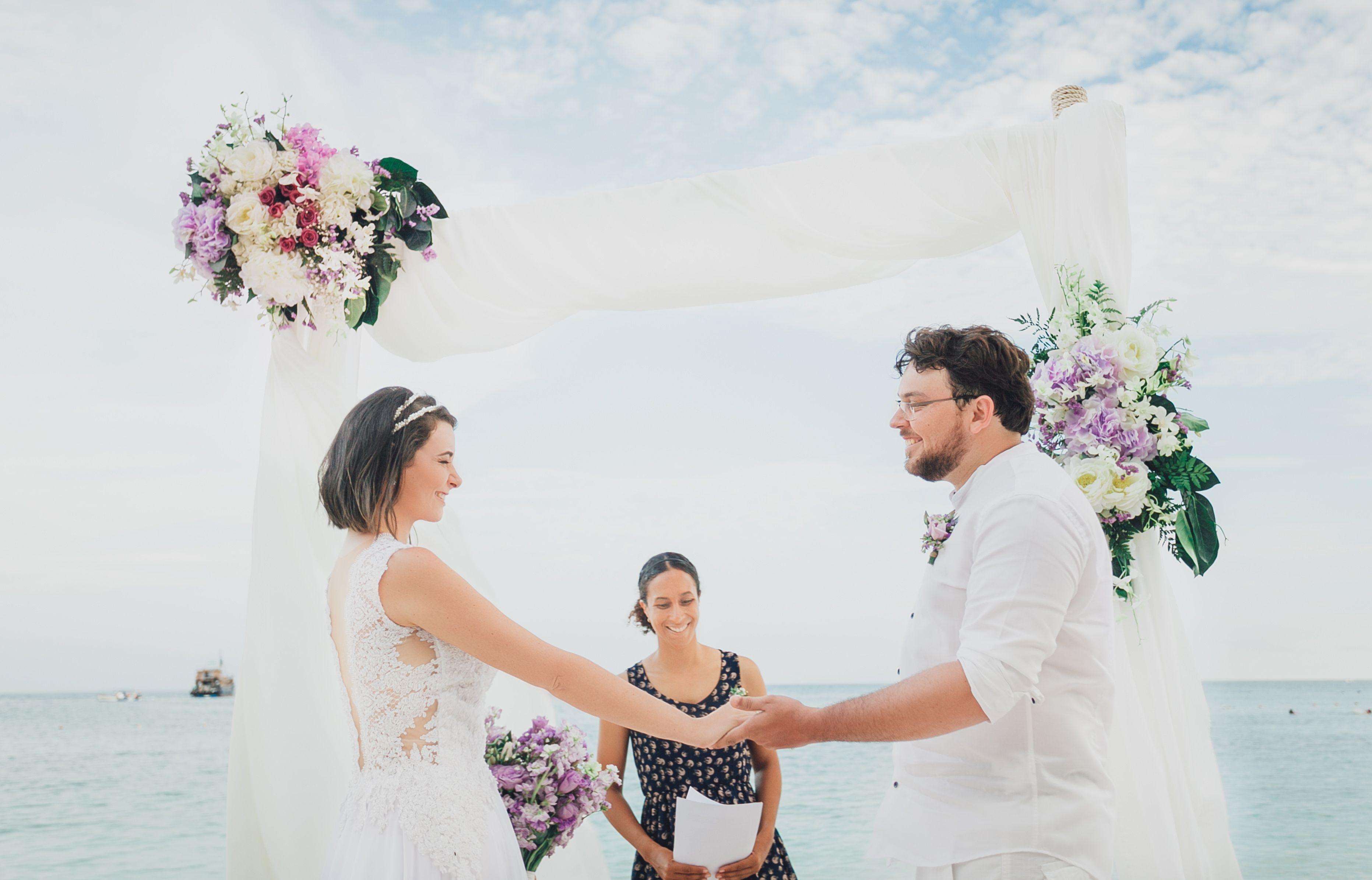 A FairyTao Wedding Koh Tao Wedding Koh Tao Shark Bay Dusty Purple ...