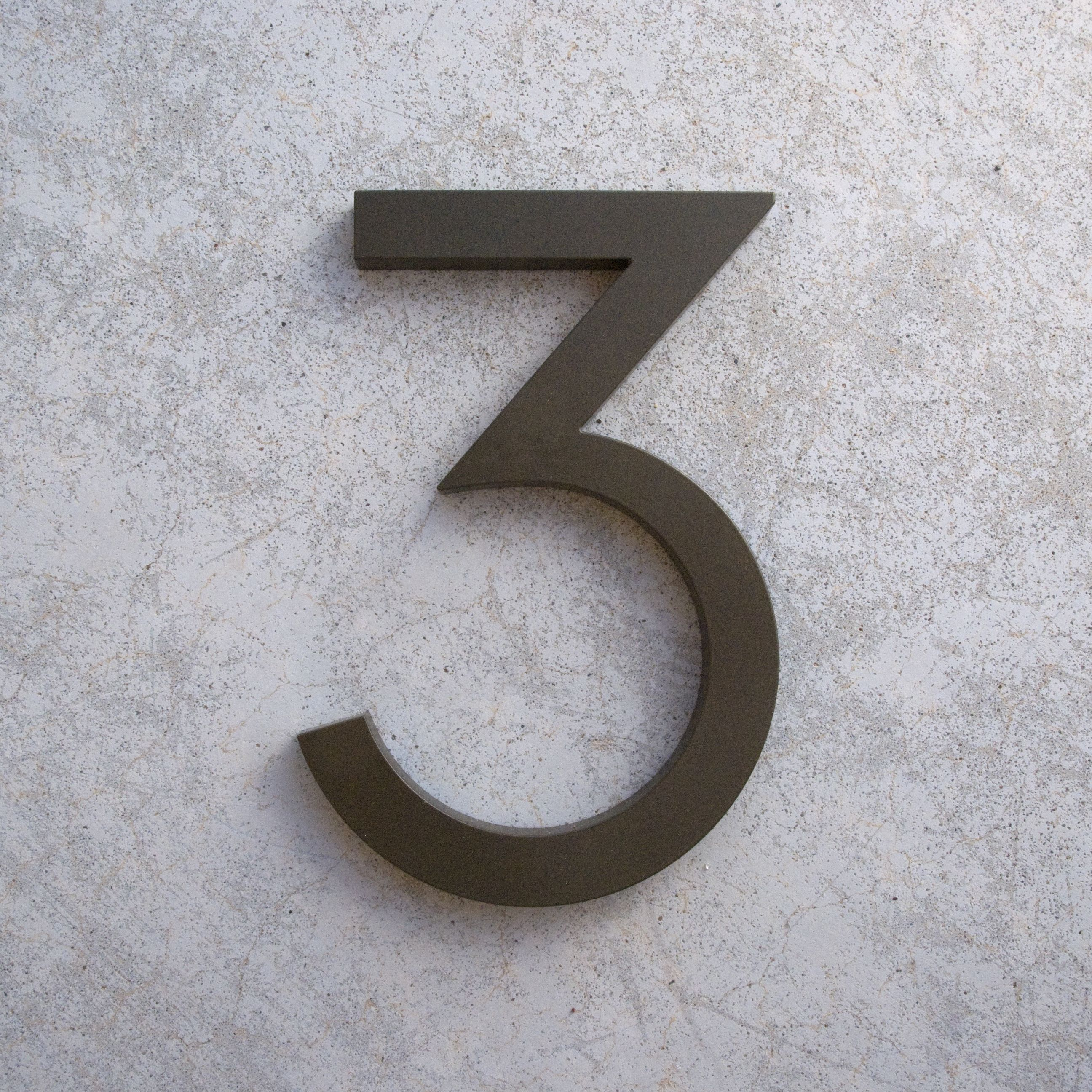 Bronze Modern House Numbers 3 Jpg 2592 2592 With Images