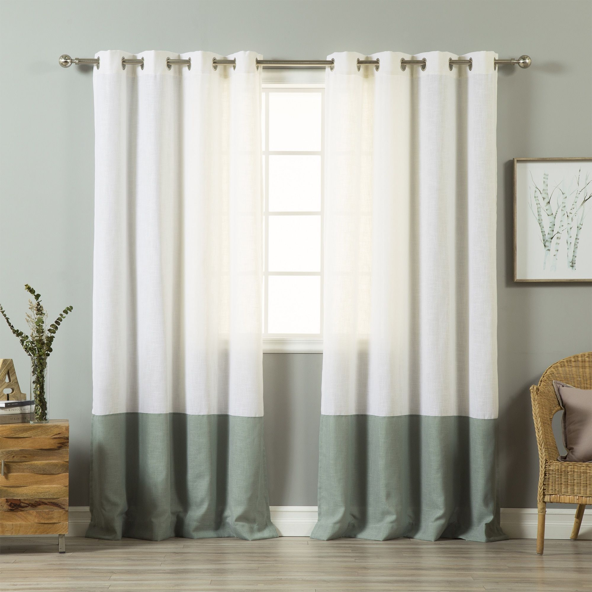 Window coverings to block sun  aurora home blend grommet top inch curtain panel pair  products