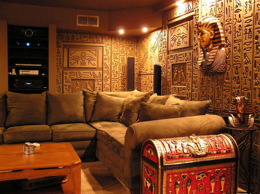 Egyptian Tomb Home Theater Photos Media Family Room