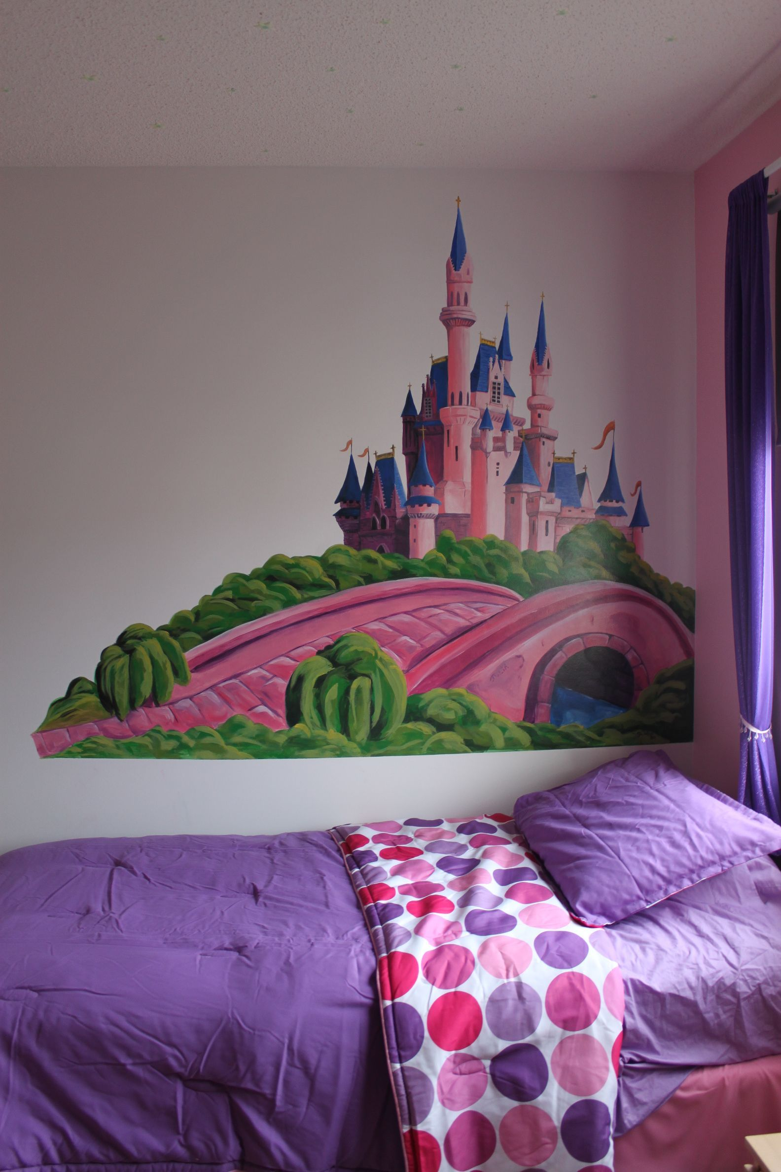 princess castle -mural with room | my monkey's bedroom/playroom