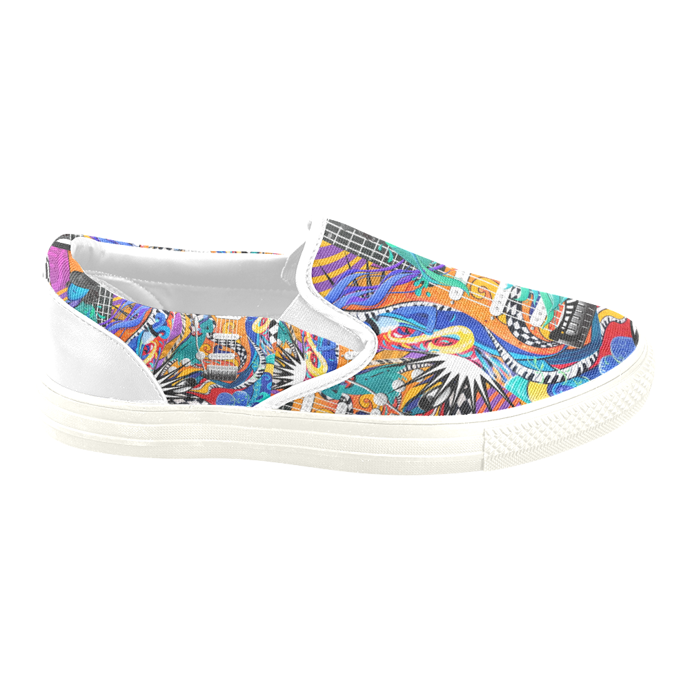 Music Sneakers Colorful Guitar Art by