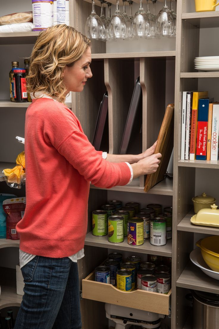 Tray dividers and wood drawers make kitchen organizing a breeze