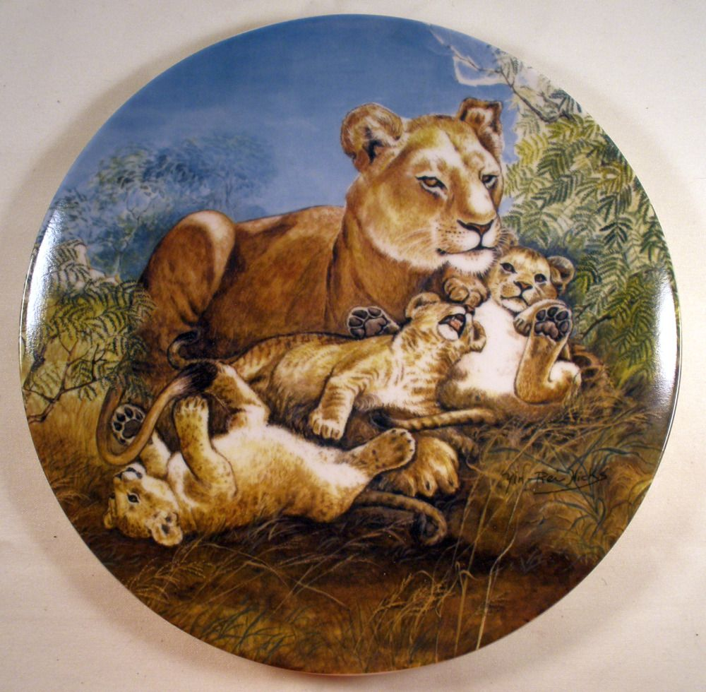 """8.5 inch Knowles collector plate, """"A Watchful Eye"""