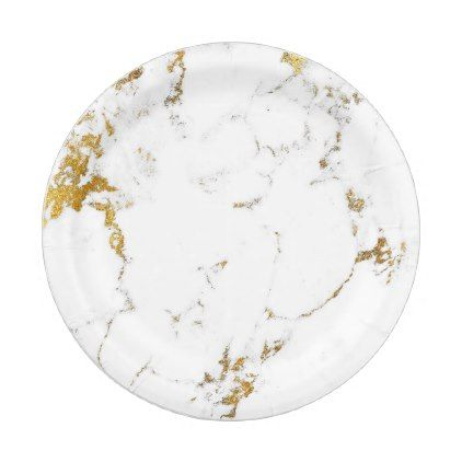 Abstract White Gold Carrara Marble Glam Stone Vip Paper Plate - glam gifts unique diy special  sc 1 st  Pinterest & Abstract White Gold Carrara Marble Glam Stone Vip Paper Plate - glam ...