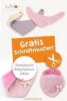 Dreieckstuch / Baby Halstuch nähen für Babys und Kinder | kullaloo #sewingprojects