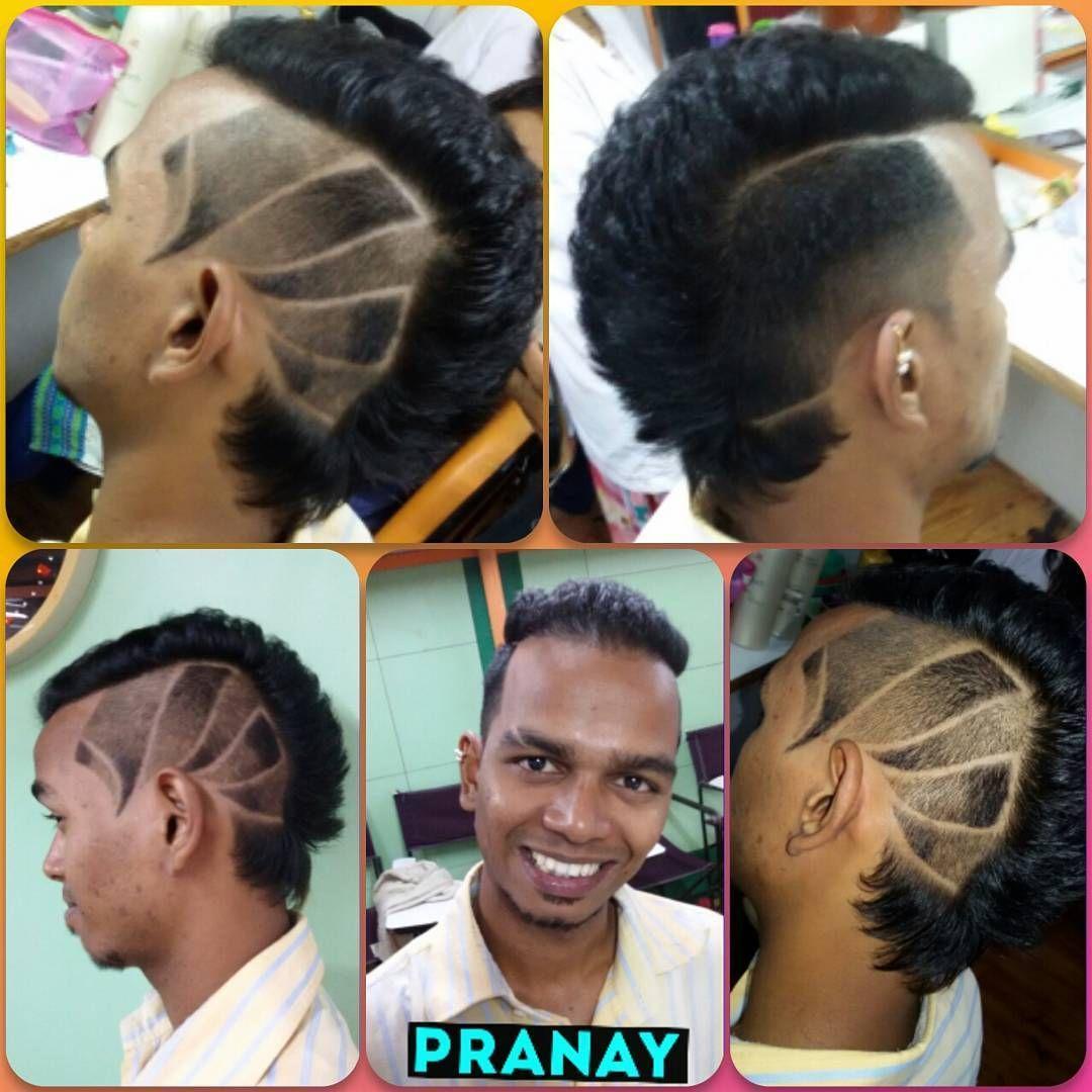 razor fade design haircut