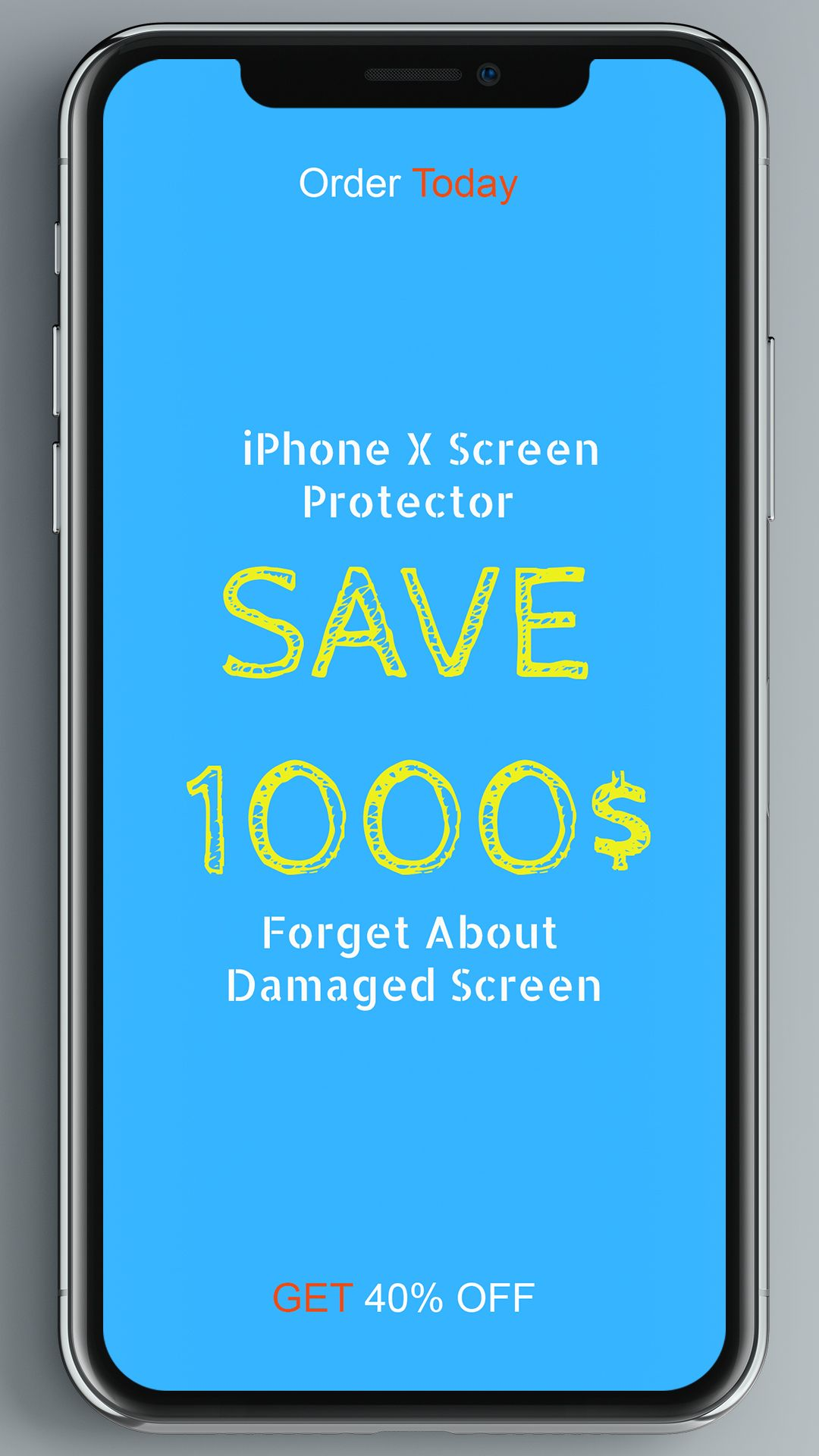 on sale 878b0 8ba1f Forget about having a damaged screen! Nuglas iPhoneX Screen ...