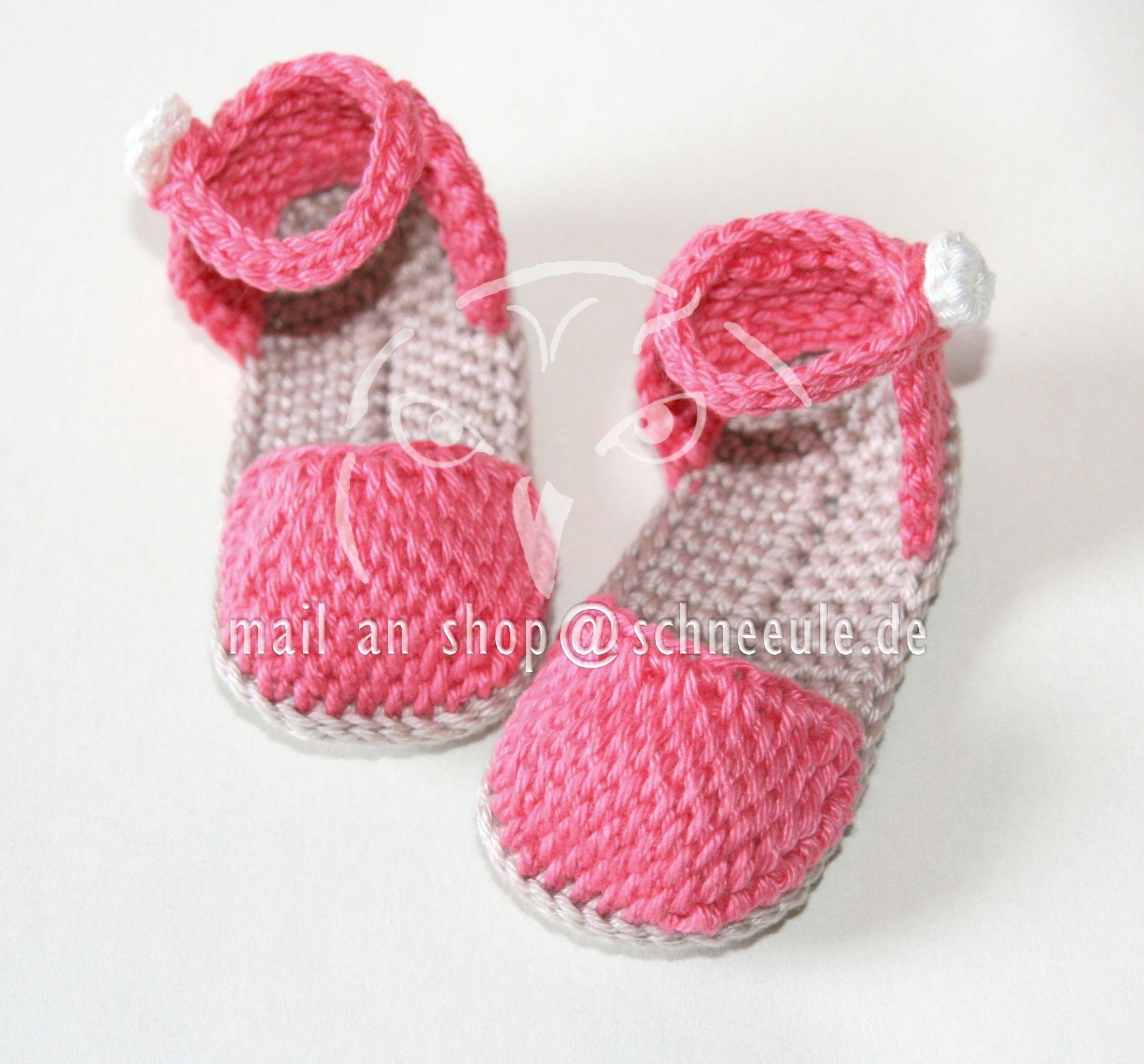 crochet baby shoes for girls - Baby Schuhe für Mädchen, gehäkelt ...