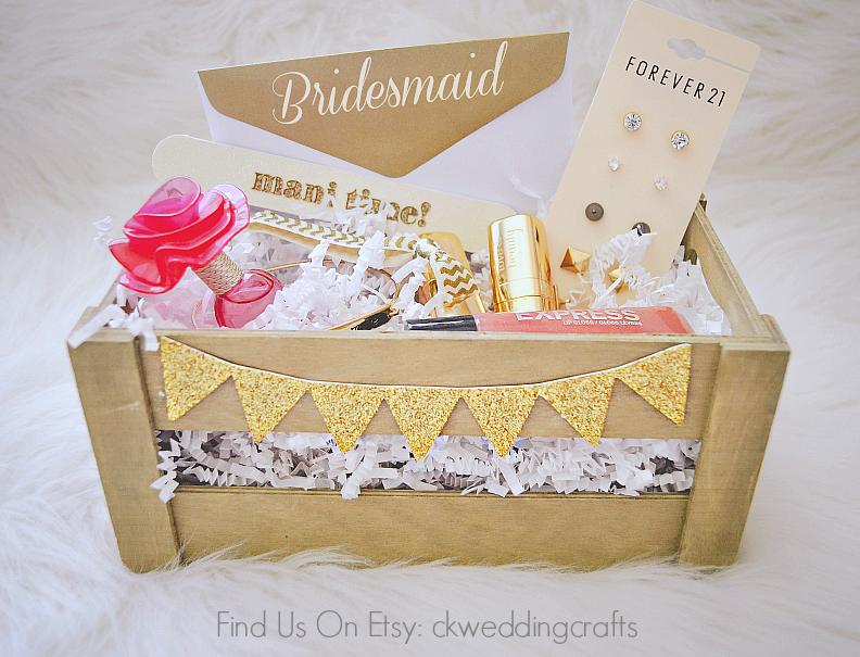 9 00 Diy Bridesmaid Box Survival Kit Bridemaid Gift Favor Thank