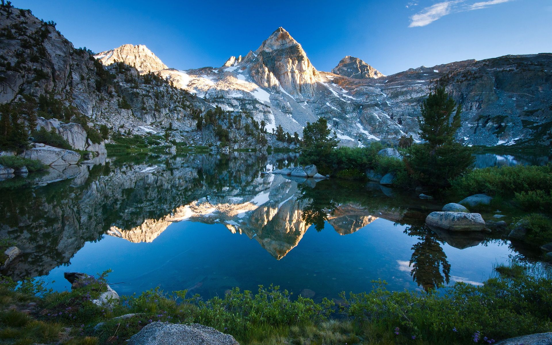 Mountain Lake Scenery HD desktop wallpaper Widescreen High
