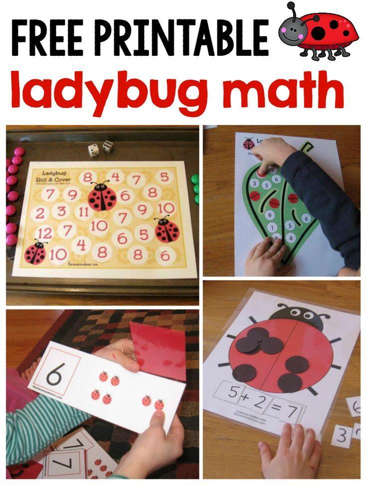 Ladybug Math for Preschool, Kindergarten & 1st Grade | Mathematik ...