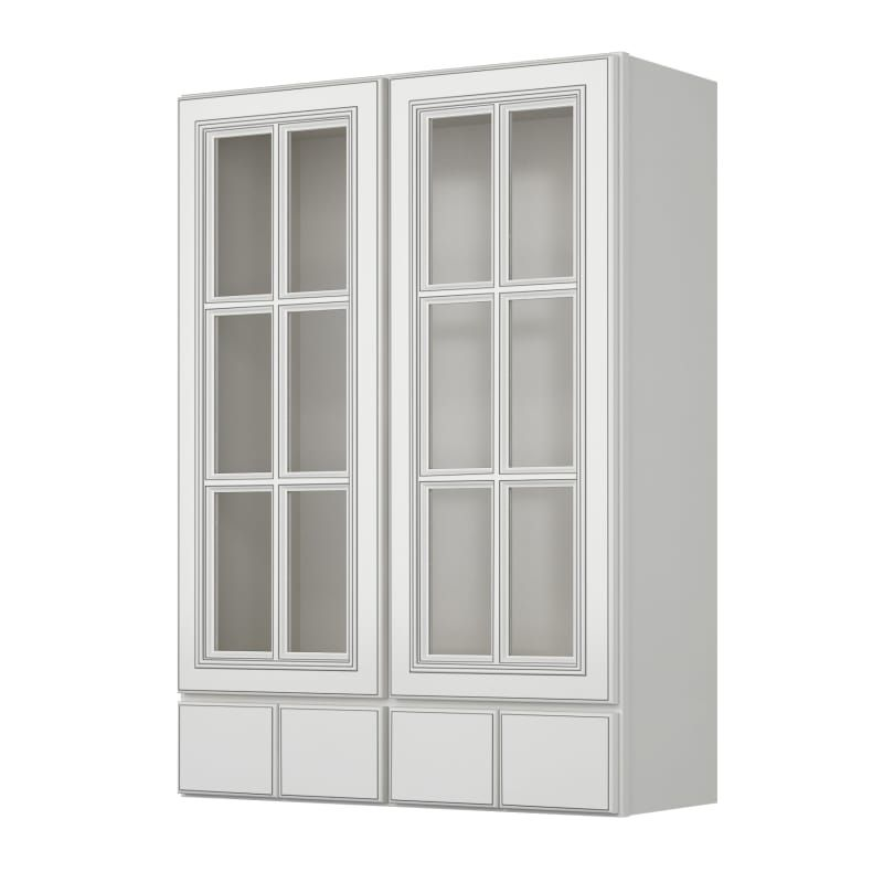 Sunny Wood Slw3042gd4 A Sanibel 30 X 42 Wall Cabinet With Glass