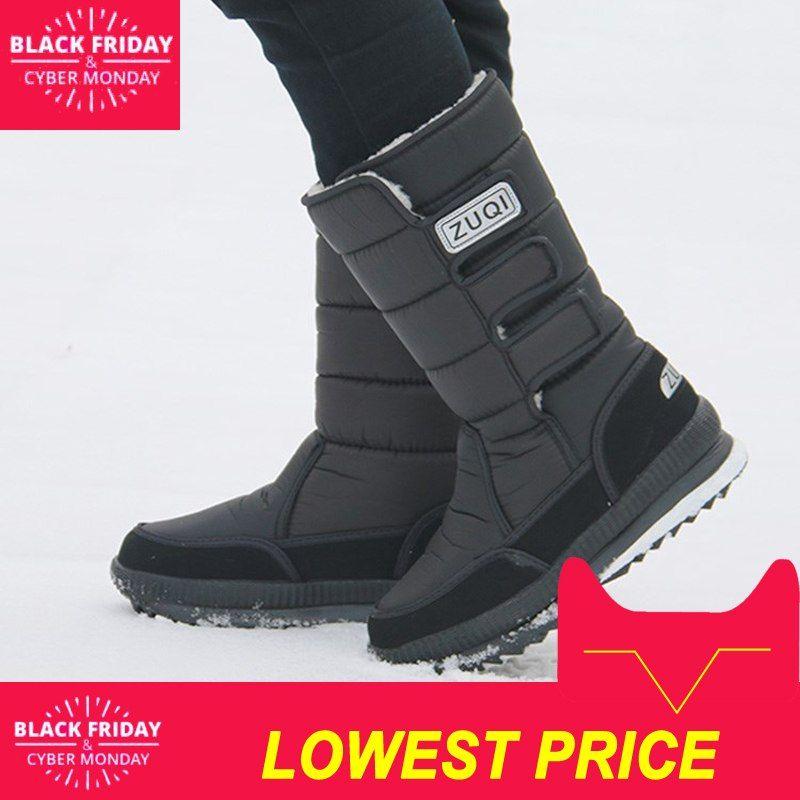 2018 Hombres Botas De Plataforma Botas Para La Nieve De Los Hombres De Felpa Gruesa Impermeable Antideslizante Zapatos De Invierno Botas Hombre Zapatos Hombre