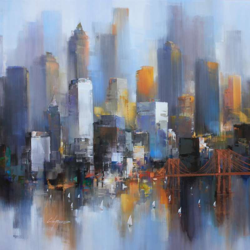 Watercolor New York: Palma Arte - Wilfred Lang - 08_New York
