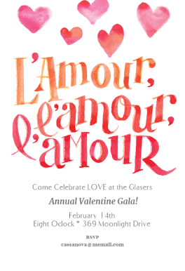 l amour printable invitation template customize add text and