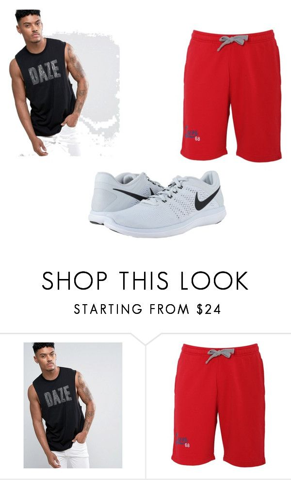 """""""Arm Day - Thursday"""" by ajay-parmar on Polyvore featuring ASOS, SUN68, NIKE, men's fashion and menswear"""