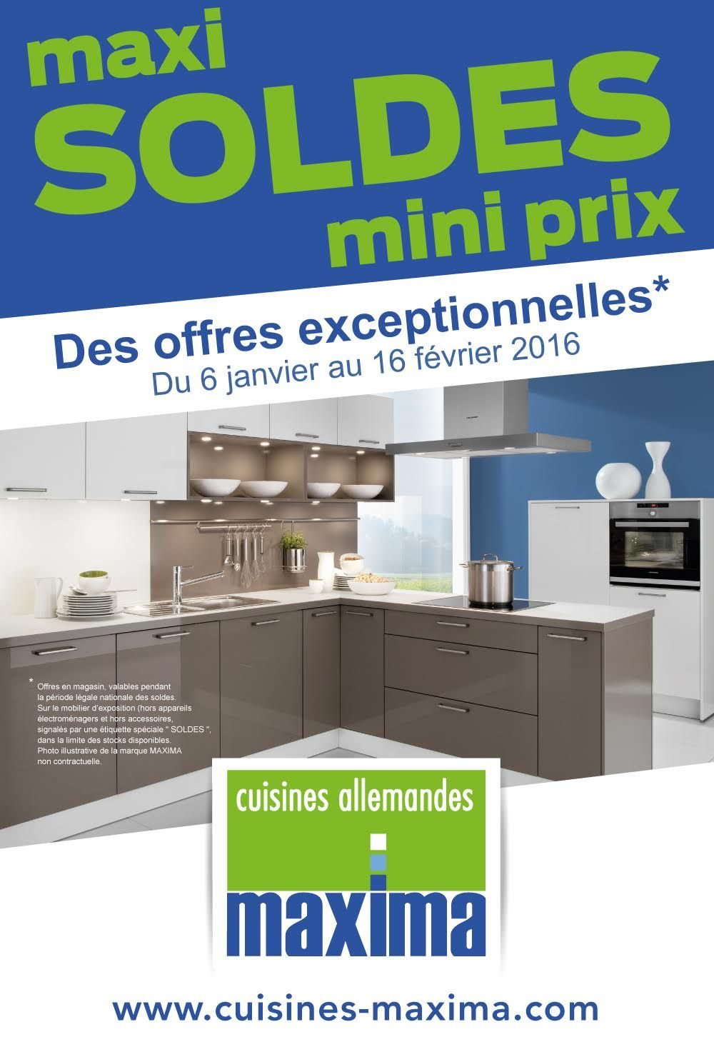 Maxi Soldes Mini Prix Pour Les Cuisines Maxima Prix Cuisine Cuisine Soldes