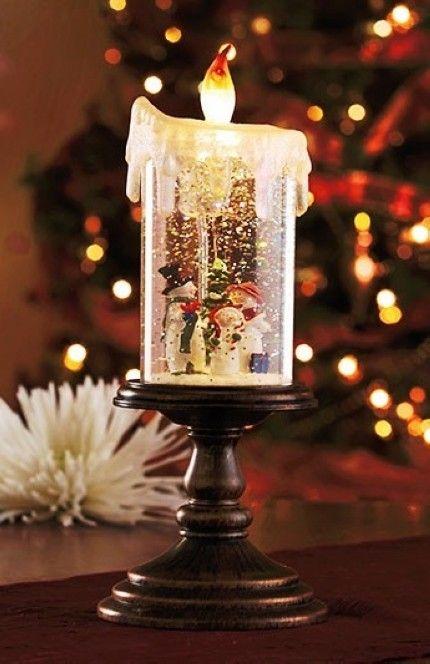 Snowman Christmas LED Candles, 2014 Lighted Christmas Holiday Candle ...