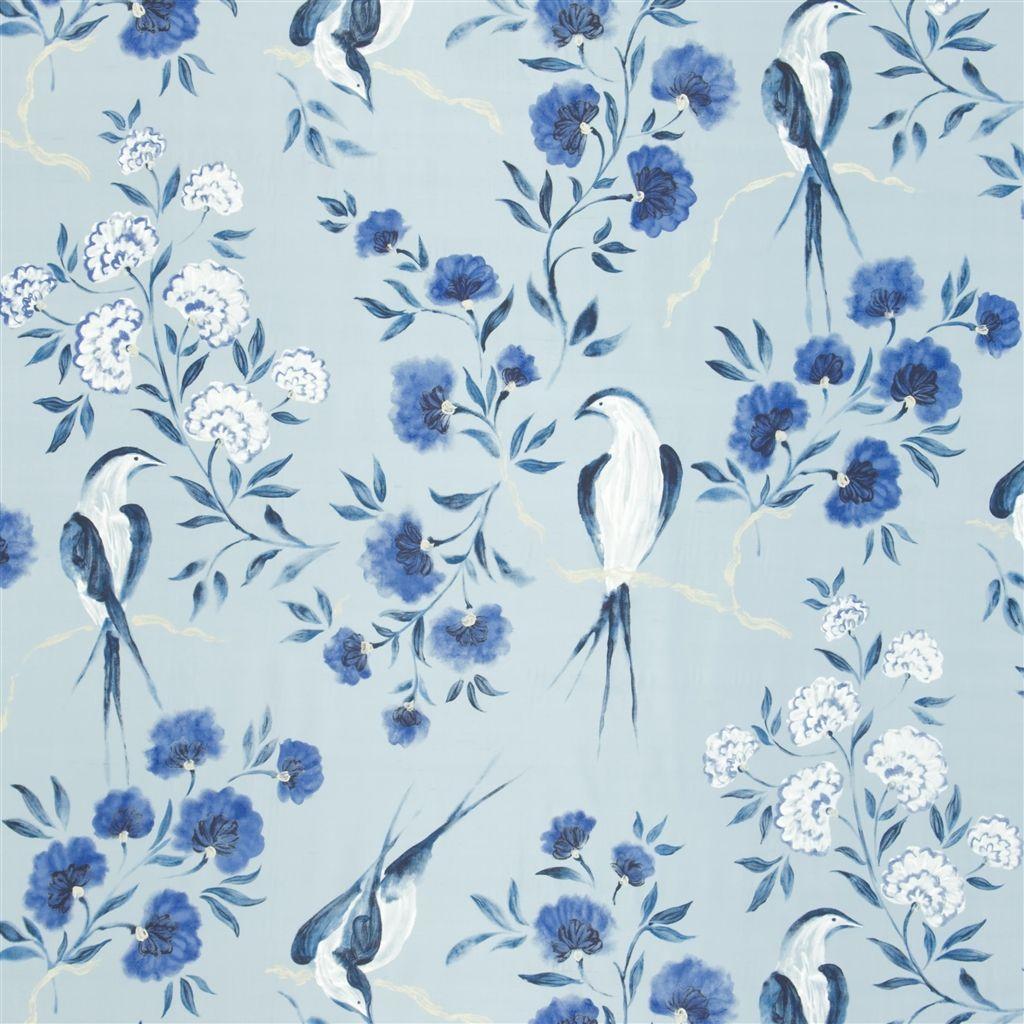Jacaranda indigo fabric designers guild our house pinterest papel pintado textiles - Designers guild telas ...