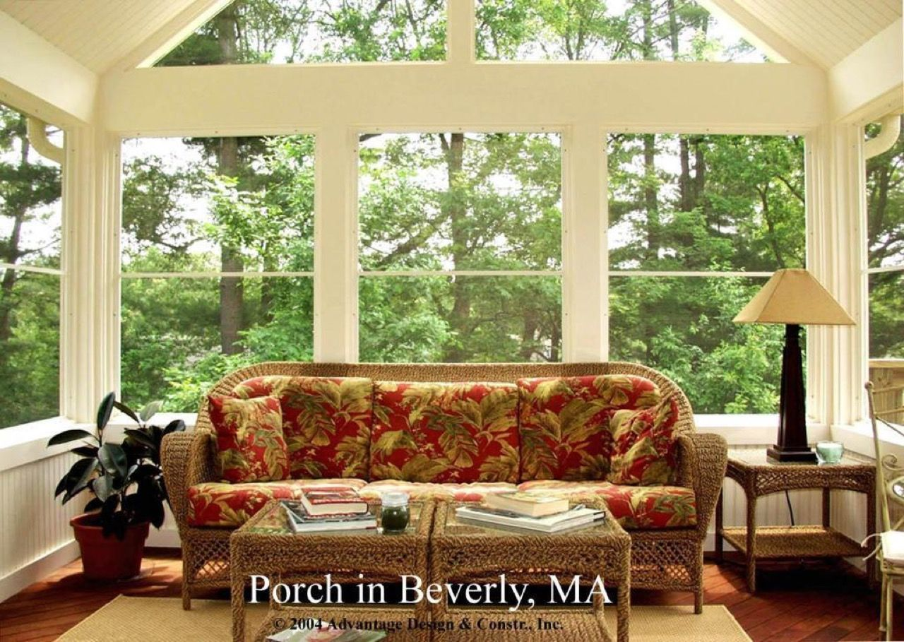 Interior view of  Season Porch in Beverly  Design Ideas