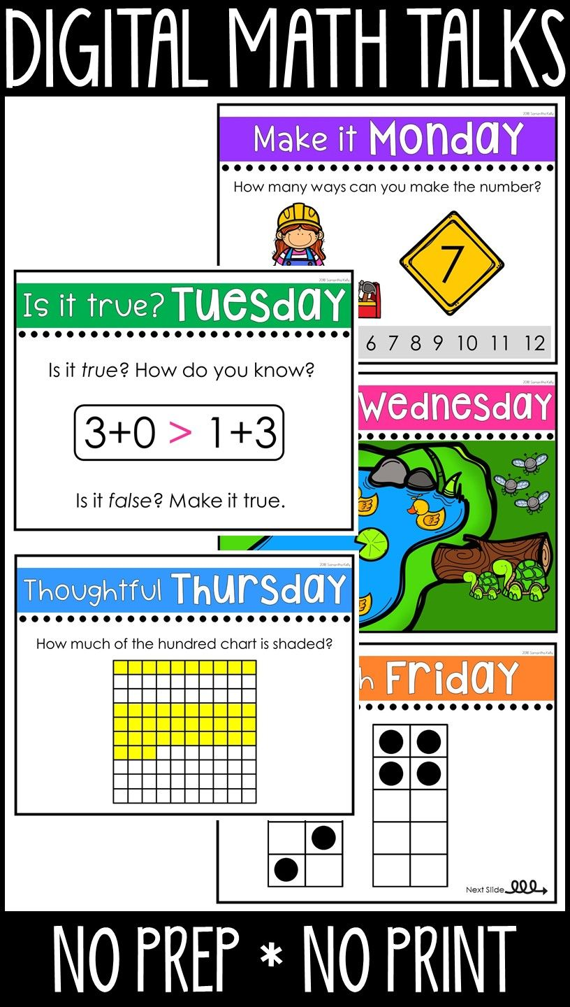 Math Talks For the Whole Year - Digital