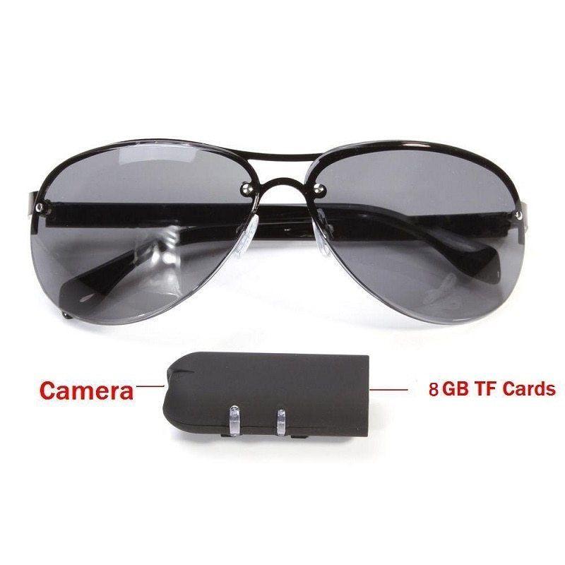 60b16ec3ad Spy Camera Sunglasses HD 1080P Glasses Cam Outdoor Action Sport Video Lens  Security Bicycle Secret Factional Helmet Bike