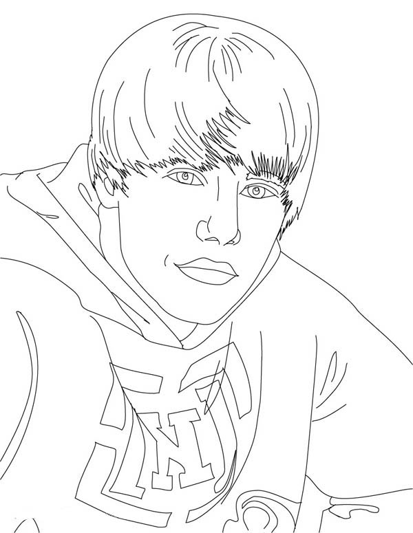 Cool Justin Bieber Coloring Page Netart In 2020 Coloring Pages Justin Bieber Coloring Pictures