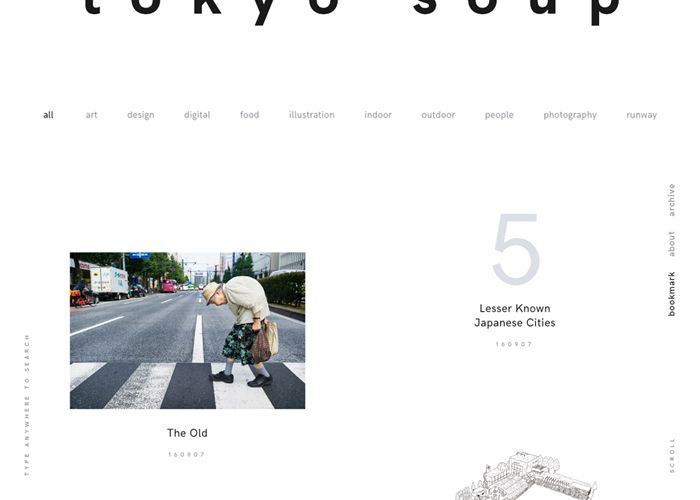Online Visual Bookmarking Of Japanese Style Art Culture And Design In General The Intention Of Tokyo Soup Is To P Web Design Inspiration Web Design Awwwards