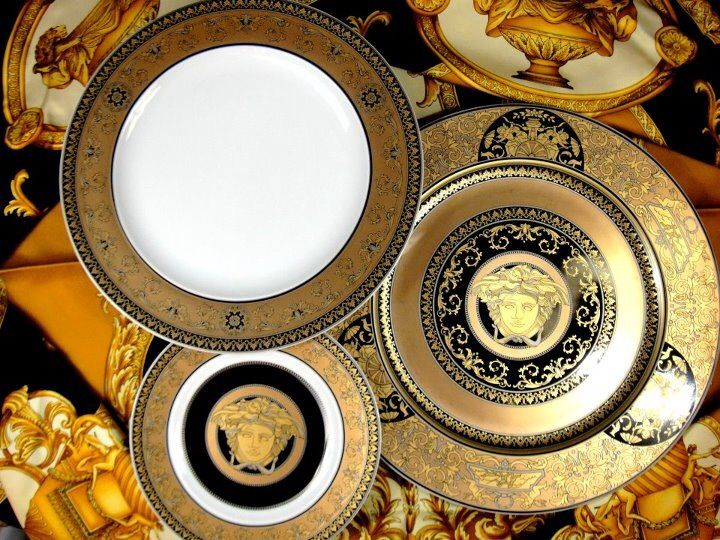 Versace Arcadia Versace Home Cup And Saucer Set Fine China