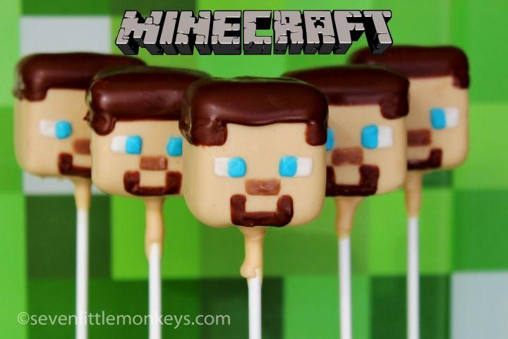 Minecraft Steve Cake Pops Minecraft Cake Pops Minecraft Party
