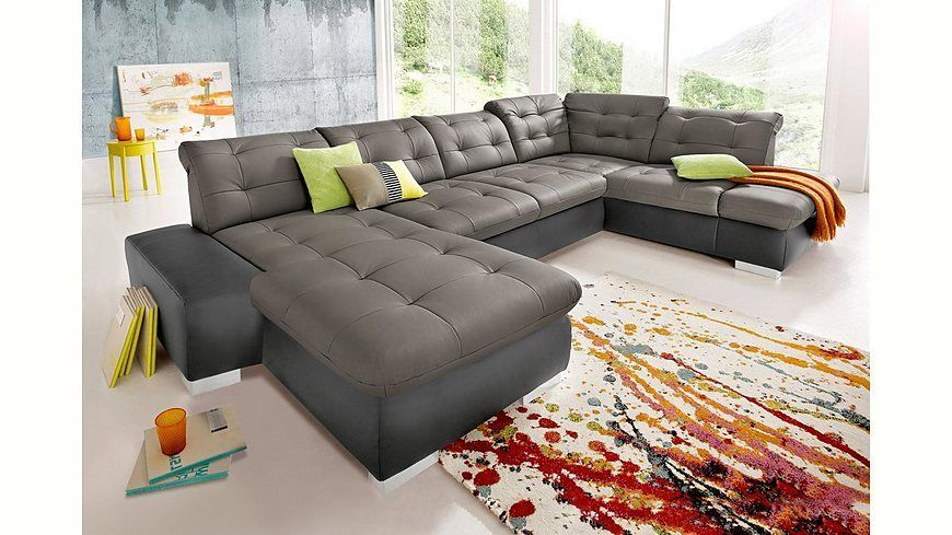 sitmore Wohnlandschaft, wahlweise in XL oder XXL Jetzt bestellen - Wohnzimmer Grau Orange